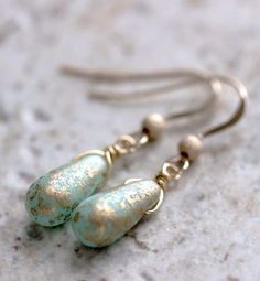 Golden and Mint by Alice Abramovich on Etsy