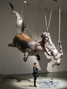 Chinese artist Chen Wenling's massive sculptures are completely grotesque, perverse, and completely fascinating.