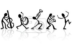 Musical instrument by icon: Stick figure band. Musical instrument by icon: Stick figure band. Stick Figure Drawing, Music Drawings, Black And White Posters, Stick Figures, Poster On, Pyrography, Music Notes, Doodle Art, Music Doodle