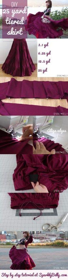 The easiest & cheapest DIY 25 yard skirt