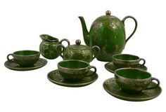 Sterling Overlay Coffee Set, Svc. for 4