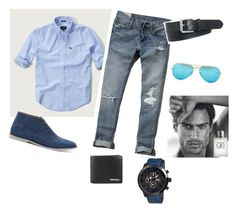 """""""Bez naslova #5"""" by ahmetovic-mirzeta ❤ liked on Polyvore featuring Abercrombie & Fitch, Topman, MOS, Diesel, Polo Ralph Lauren, Ray-Ban, Giorgio Armani, mens, men and men's wear"""
