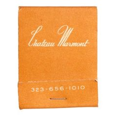 Chateau Marmont Hotel, Beverly Hills, CA. 20 stem paper #matchbook uncoated matte cover stock. To order your business' own branded #matchbooks go to: www.GetMatches.com or call 800.605.7331 Today!