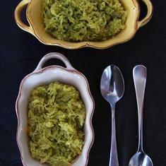 Spaghetti Squash With Arugula Walnut Pesto (via foodily.com)