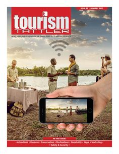 Our January front cover features a typical sundowner scene while on safari in South Africa. A Big Five safari is all about the sightings and experiences and sharing the thrill of these experiences with friends and family on social media is what trave. Safety And Security, Conservation, Attraction, Magazines, Safari, Tourism, January, Social Media, Marketing