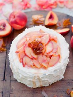 peach cake (via #spinpicks)