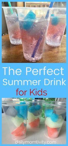 Day 35- Sweet Summer Drink {100 Days of Summer Fun} #247moms #iama247mom #momminitdaily #momlife #momcoach #motherhood Summer Drinks Kids, Kid Drinks, Refreshing Summer Drinks, Yummy Drinks, Summer Fun, Beverages, Alcoholic Drinks, Healthy Drinks, Camping Drinks