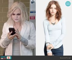 Free People Masquerade Cuff Thermal Top worn by Rose McIver on iZombie Fashion Tv, Fashion Outfits, Rose Mciver, Costume Design, Tv Series, Random Stuff, Fashion Inspiration, Free People