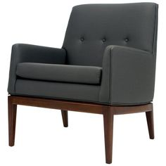 Jens Risom Petite Lounge Chair | From a unique collection of antique and modern lounge chairs at https://www.1stdibs.com/furniture/seating/lounge-chairs/
