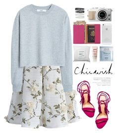 """""""Chicwish"""" by purpleagony on Polyvore featuring Chicwish, MANGO, Schutz, Deborah Lippmann, Royce Leather, Sephora Collection, philosophy, Vagabond and Forever 21"""