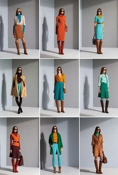 Great colour combinations; great pieces for a capsule wardrobe