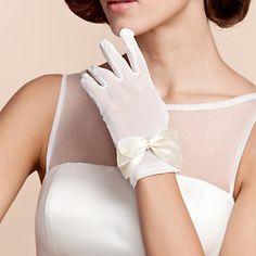 tulle gants poignets longueur de mariée avec l'arc – USD $ 2.99