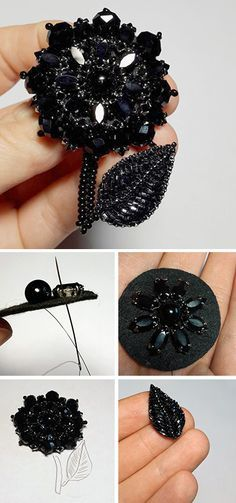 How to make beaded brooch. Click on image to see step-by-step tutorial