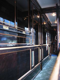 Orient Express - Took it from Venice to Paris to London in 1995 - Interior of the car (passageway) - and yes, it is truly this stunning!