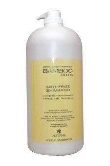 Bamboo Smooth Anti-Frizz Shampoo Alterna 67.6 oz Shampoo For Unisex by Alterna. $59.90. Gently cleanse without sulfates. Provides the ideal level of moisture needed for smooth, sleek styles. Strengthens hair laying the foundation for smooth healthy hair. An anti-frizz,smoothing, moisturizing shampoo formulated without sulfates and designed to protect color. Alterna Bamboo Smooth Anti-Frizz Shampoo with organic bamboo & kendi oil for strong, sleek, frizz-free hair Gentle, y...