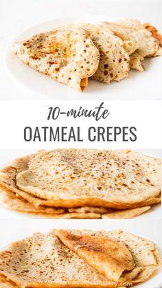 Homemade Breakfast, Healthy Breakfast Recipes, Healthy Snacks, Heathy Sweets, Healthy Oatmeal Breakfast, Healthy Oatmeal Recipes, Pancake Recipes, Flour Recipes, Waffle Recipes