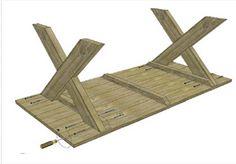 Hoe maak je een tafel van steigerhout? | voordemakers.nl Wood Projects, Woodworking Projects, Projects To Try, Diy Interior, Diy Table, Barn Wood, Floor Chair, Home And Garden, Picnic