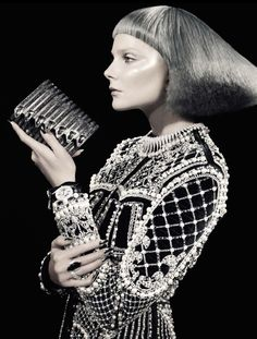 """Glitter"" : Eniko Mihalik : Vogue Italia October 2012 : David Dunan"