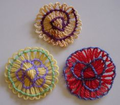 Written directions on post---Flower Looms: Patterned Stitching