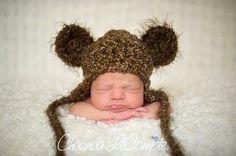 Brown Sugar Fuzzy Earflap Teddy Bear Hat by BeautifulPhotoProps, $44.00