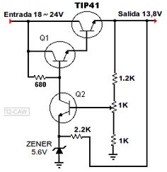 diagrama de regulador 13.8V