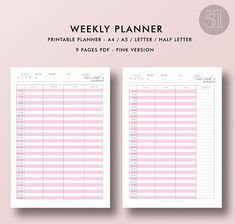 Planner Yearly Calendar Printable Planner Calendar