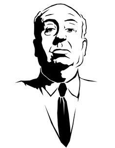 stencil of Hitchcock
