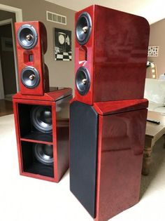 Lets see your O.B. speakers....! Pro Audio Speakers, Audiophile Speakers, Built In Speakers, Hifi Audio, Studio Equipment, Dj Equipment, Speaker Building, Speaker Plans, Surround Sound Speakers