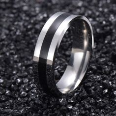 Vintage White Gold Plated Stainless Steel Ring for Men and Women