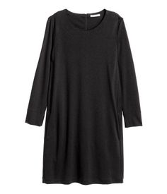 Trikåklänning | Svart | Dam | H&M SE
