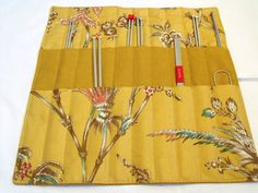 knitting needle holder knitting needle roll by FingerPrickingGood