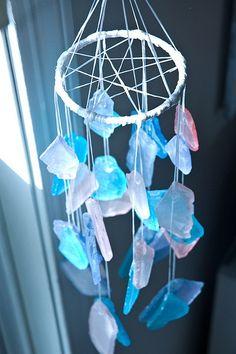 Sea glass dreamcatcher