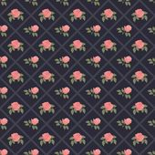 Seamless vintage flower pattern on navy background — Stock Illustration #58514655