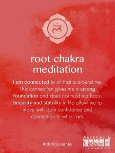 Root chakra meditation. #AuraCacia #chakrajourney
