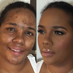 The Power of Makeup: Beautiful Before-and-After Makeup Transformations - Pampadour Makeup For Older Women, Makeup For Moms, Girls Makeup, Bombshell Makeup, Afro, Beauty Makeover, Makeup Before And After, High Fashion Makeup, Power Of Makeup