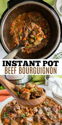 Instant Pot Beef Bourguignon is an impressive and hearty meal you can make on even a regular weeknight! If you like this recipe, be sure to check out the book Weeknight Gourmet Dinners for more gourmet meals made easy. Hip Pressure Cooking, Instant Pot Pressure Cooker, Pressure Cooker Recipes, One Pot Beef Recipe, Instant Pot Beef Bourguignon Recipe, Classic Beef Stew, Gourmet Meals, Easy One Pot Meals, Hearty Meal
