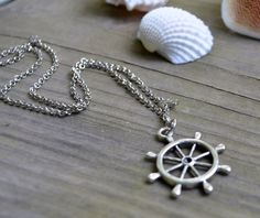 Ships Wheel Necklace  Nautical  Spring  Summer  by cynicalredhead