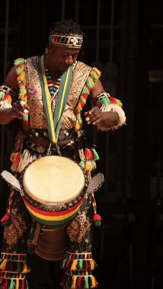 #TBT Look at Ismael Bangoura in his performance regalia! He's about to go all in on his djembe at the 2010 Florida African Dance Festival Concert.  Bangoura is another outstanding percussionist who will be featured at the 19th Annual Florida African Dance Festival.  Sign up for his workshop and all of the other activities we have going in Tallahassee June 9 – 11.  See a complete schedule at fadf.org. #FADF2016 #AfricanDance #AfricanDrum #Africa