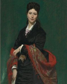 """""""Portrait of a lady"""" by Carolus-Duran (1874). French painter."""