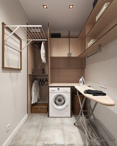 classic practical home textiles laundry room storage design ideas 20 ~ . classic practical home textiles laundry room storage design ideas 20 ~ … Modern Laundry Rooms, Laundry Room Layouts, Farmhouse Laundry Room, Modern Room, Laundry Closet, Laundry Room Organization, Laundry Storage, Basement Laundry, Bathroom Storage