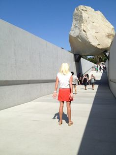 EXHIBIT OBSERVATION NO. 4  LEVITATED MASS / MICHAEL HEIZER  LACMA  JULY 22, 2012 LOS ANGELES      This granite 680,000 pound boulder [megalith: a large stone marker used to mark a ritual space] that took 43 years to find was commissioned by LACMA.    If you hate it I don't care. Feels like a 60's minimalist monument inspired by a caveman. Desert transported to an urban desert. Land Art manifested. Beautifully dangerous.    Figures that Michael Heizer is reclusive. Land Art, Bouldering, Exhibit, Marker, Granite, Hate, Feels, Minimalist, Urban
