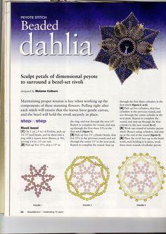 """В декабрьском номере B&B за 2009г появилась схема """"Beaded dahlia"""" Эта схема не смогла оставить равнодушной многих любительниц бисероплетения. Причем некоторые из…"""
