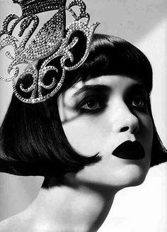 short bangs, very silent-movie retro looking