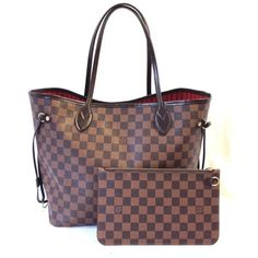 d95a99244f1b Louis Vuitton Neo Pochette Neverfull  6427 New Model Nm Damier Ebene Mm  with Clutch Tote Shoulder Bag