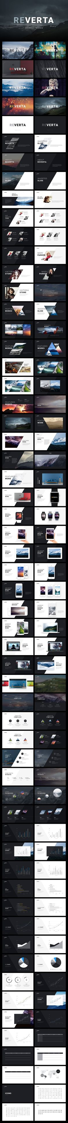 Reverta PowerPoint Template by ReworkMedia on Map Design, Deck Design, Google Material, Creative Powerpoint Presentations, Agriculture Logo, Text Style, Keynote Template, Presentation Templates, Infographics Design