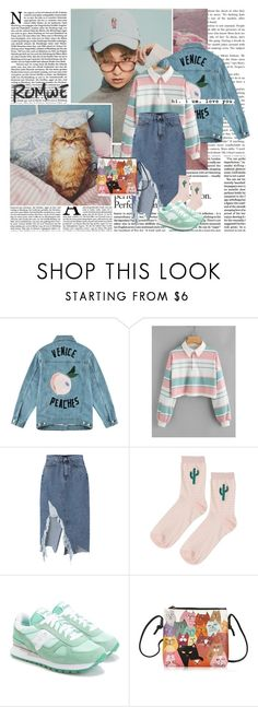 """Peach girl"" by ani-onni on Polyvore featuring Être Cécile, Topshop and Saucony"