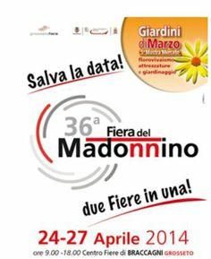 Giardini di Marzo 2014 - Spring and Flower Festival, April 24-27, 9 a.m. to 7:30 p.m., in Grosseto, Braccagni Center, Strada  Provinciale Montemassi;  entrance fee: €7.