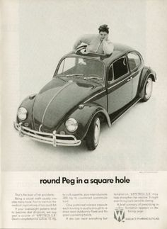 Love this VW ad -- Round Peg in a square hole