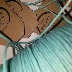 dbamy o każdy szczegół opakowania... turkusowy bawełniany sznurek tak dla kontrastu :)
