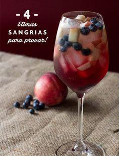 A famosa sangria, tão tradicional na Espanha, é a bebida ideal para acompanhar tardes agradáveis entre amigos. Confira 4 receitas fáceis de fazer neste fds!